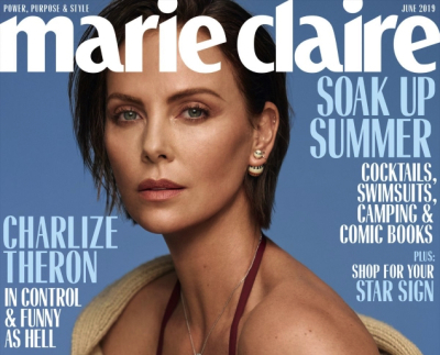 Marie Claire's recent publication of June 2019 is featuring the ever-gorgeous celeb Charlize Theron